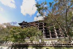 Otoño en el templo de Kiyomizu imagen de archivo libre de regalías