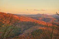 Otoño en las montañas cerca de Drachenfels Fotografía de archivo libre de regalías
