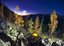Otoño en las montañas de Gorgan en la noche Imagen de archivo libre de regalías