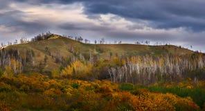 Otoño en las montañas de Zhiguli Foto de archivo