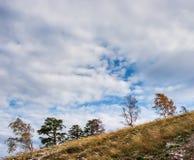 Otoño en las montañas de Zhiguli Imagen de archivo