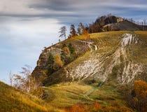 Otoño en las montañas de Zhiguli Fotos de archivo