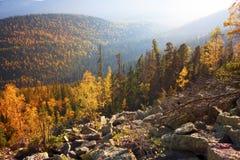 Otoño en las montañas rocosas Fotografía de archivo libre de regalías