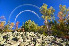Otoño en las montañas rocosas Fotos de archivo libres de regalías