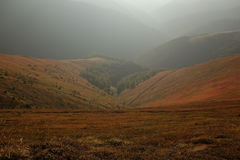 Otoño en montañas cárpatas fotografía de archivo