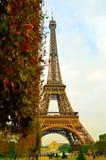 Otoño en París, torre Eiffel Imágenes de archivo libres de regalías