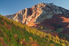 otoño en un lugar remoto de la montaña Fotos de archivo