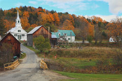 Otoño en Vermont Imagenes de archivo