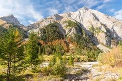 Otoño hermoso en las montañas bávaras Foto de archivo