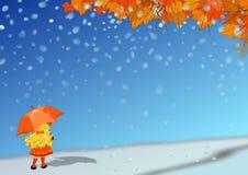 Otoño invierno stock de ilustración
