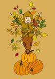 Otoño-Muchacho--Calabaza-Rey Imagen de archivo libre de regalías