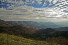 Otoño, ruta verde azul de Ridge Imagenes de archivo