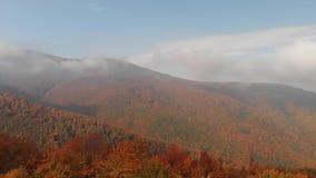 Oto?o en las monta?as c?rpatas Nubes hermosas en las monta?as metrajes