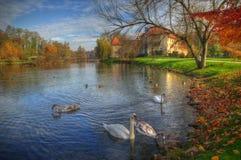 Otocec slott, Slovenien - höstbild Royaltyfria Bilder
