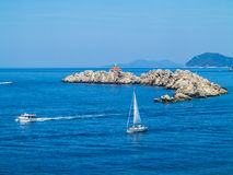Otocic Grebeni island, Dubrovnik royalty free stock photo