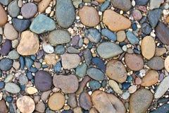 otoczaków kamienie texture różnorodnego fotografia stock