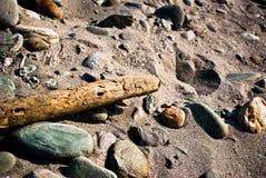 otoczaków piaska drewno Obraz Stock