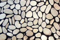 Otoczak kamienna ściana Zdjęcia Stock
