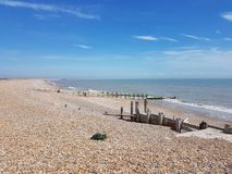 Otoczak plaża, żyto, UK Zdjęcia Royalty Free