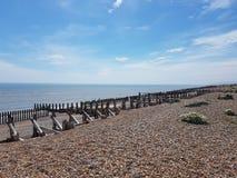 Otoczak plaża w życie, UK Fotografia Stock