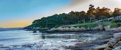 Otoczak plaży golf fotografia stock