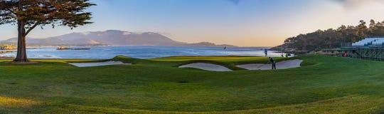 Otoczak plaży golf obraz stock