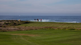 Otoczak plaży golf, California fotografia royalty free