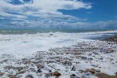 Otoczak plaża w Alanya Zdjęcia Royalty Free