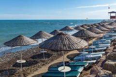 Otoczak plaża w Alanya Obrazy Royalty Free