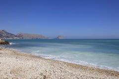 Otoczak plaża w Hiszpania Obraz Royalty Free