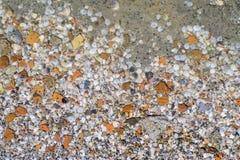 Otoczak w wodnej teksturze Zdjęcia Stock