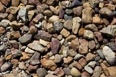 Otoczaka kamienny tło Obraz Royalty Free