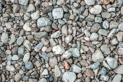 Otoczaka kamienny zbliżenie na brzeg obraz royalty free
