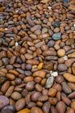 Otoczaka tła kamienna tekstura Obrazy Stock