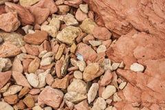 Otoczaki i skał warstwy Obrazy Royalty Free