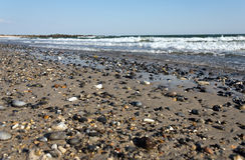 Otoczaki przy heligoland plażą Fotografia Stock