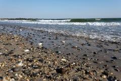 Otoczaki przy heligoland plażą Obrazy Royalty Free