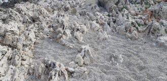 Otoczaki wyrzucać na brzeg, kamienia tło zdjęcia stock