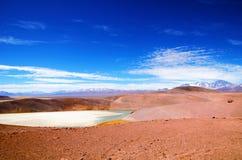 Otoczenia Laguna Verde w Chile Zdjęcia Royalty Free