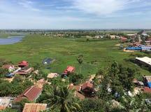 Otoczenia Tonle Aprosza jezioro w Kambodża Obraz Stock