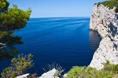 otok ландшафта острова dugi среднеземноморское стоковые изображения rf
