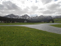 The Otoka stream and the Durmitor. Mountain in the spring Stock Photo