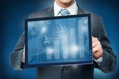 Otokowy cyfrowy wirtualny ekran, biznesowy pojęcie Zdjęcie Stock