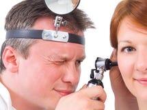 Otolaryngologycal exam Royalty Free Stock Photo