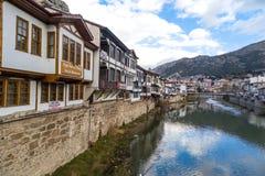 Otomanów domy w Amasya Obrazy Royalty Free
