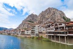 Otomanów domy w Amasya Zdjęcia Royalty Free