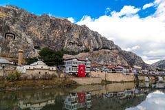 Otomanów domy w Amasya Fotografia Stock