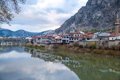 Otomanów domy w Amasya Obrazy Stock