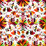 Otomi Style Seamless Pattern. Vector Seamless Mexican Otomi Style Autumn Pattern Stock Photo