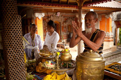 Oton ceremony on Bali island Royalty Free Stock Photography